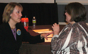 Susan Fitzell coaching a teacher