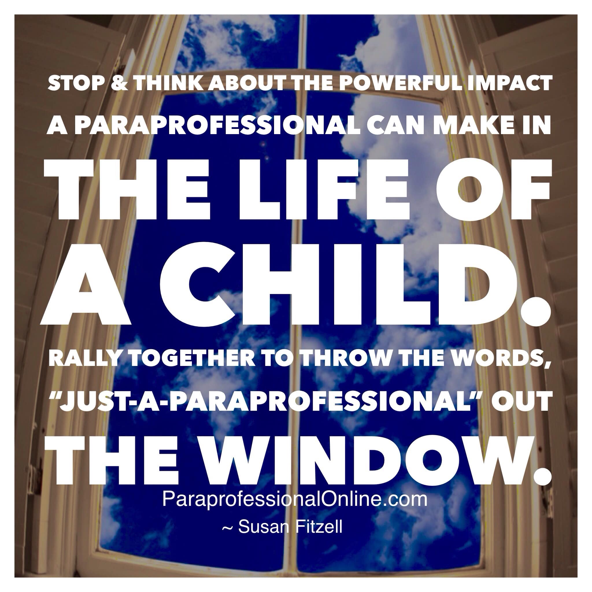 When Is Use Of Paraprofessionals >> Throw The Phrase Just A Paraprofessional Out The Window Susan