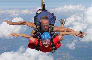 Susan Skydiving