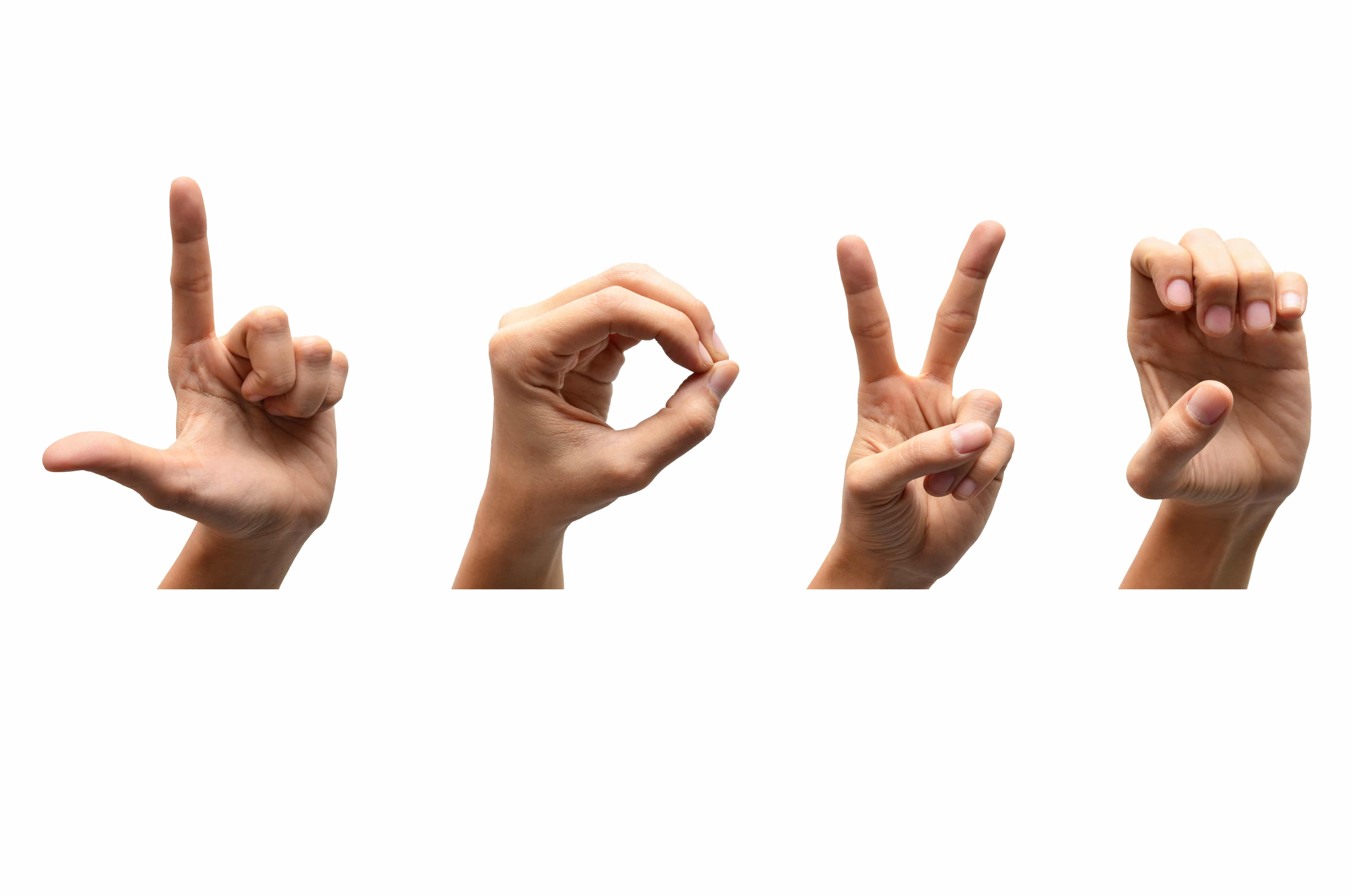 Finger Spelling - Sign Language Improves Vocabulary