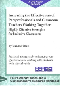 Increasing the Effectiveness of Paraprofessionals in the Classroom Audio Program