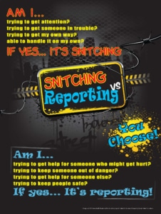 Snitching vs. Reporting